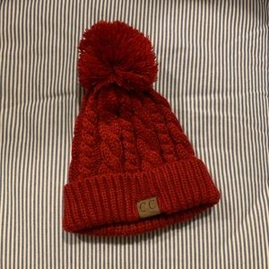 NWOT C.C. Thick Long Cuffed Cable Knit Beanie